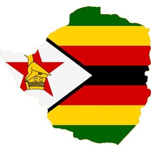 Africa Map Button-Zimbabwe