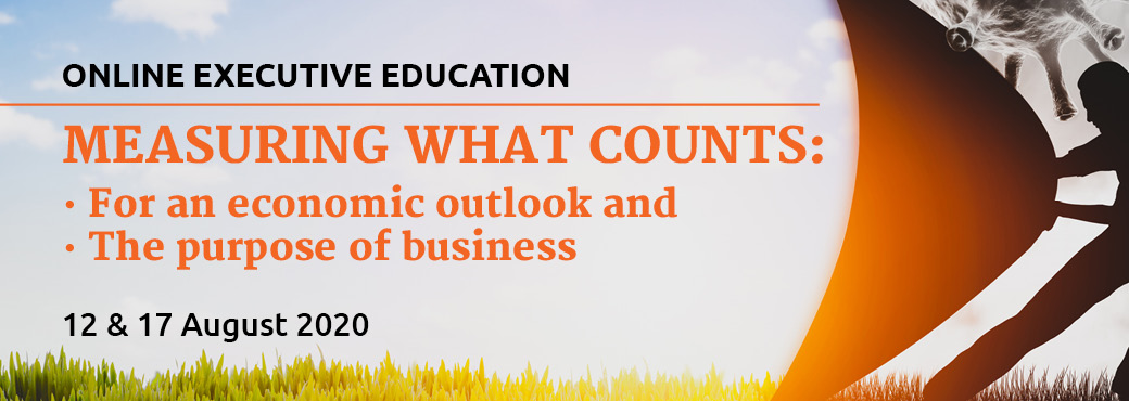 JBS Measuring what counts- For an economic outlook and the purpose of business