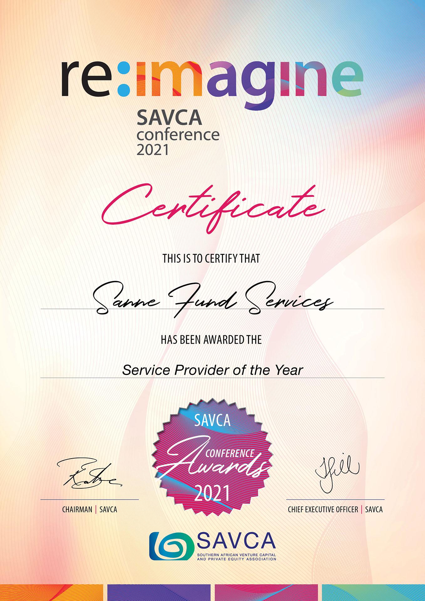 SAVCA-Conference-Award-2021-Sanne-Fund-Services