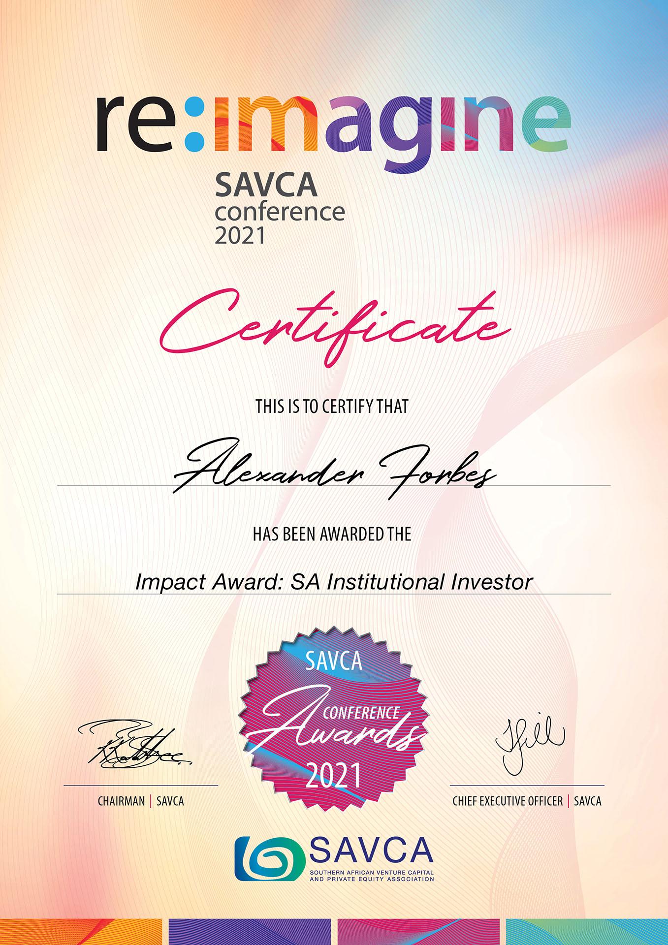 SAVCA-Conference-Award-2021-Winner-Alexander-Forbes