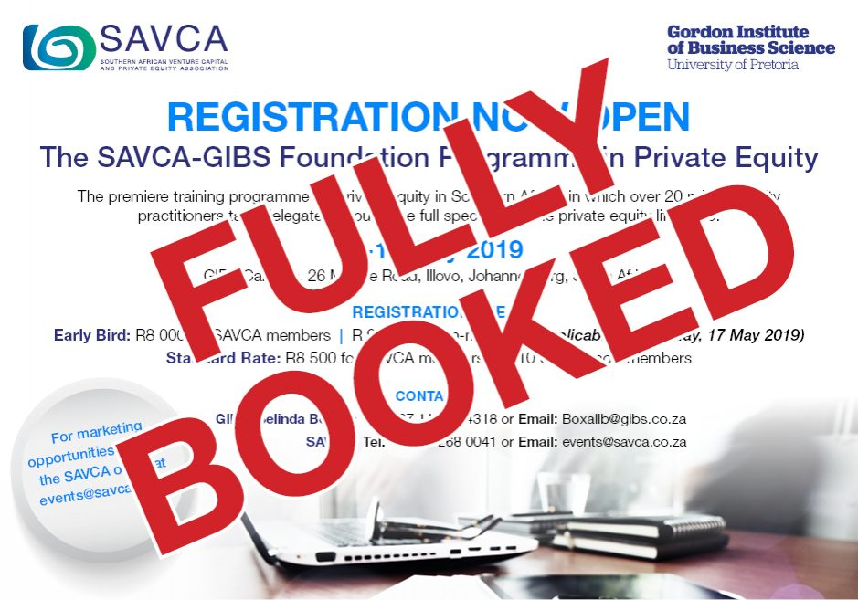 SAVCA-GIBS Foundation 2019 Sold Out