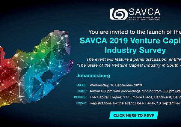 SAVCA Venture Capital Survey invite - 18 September 2019 (website image)