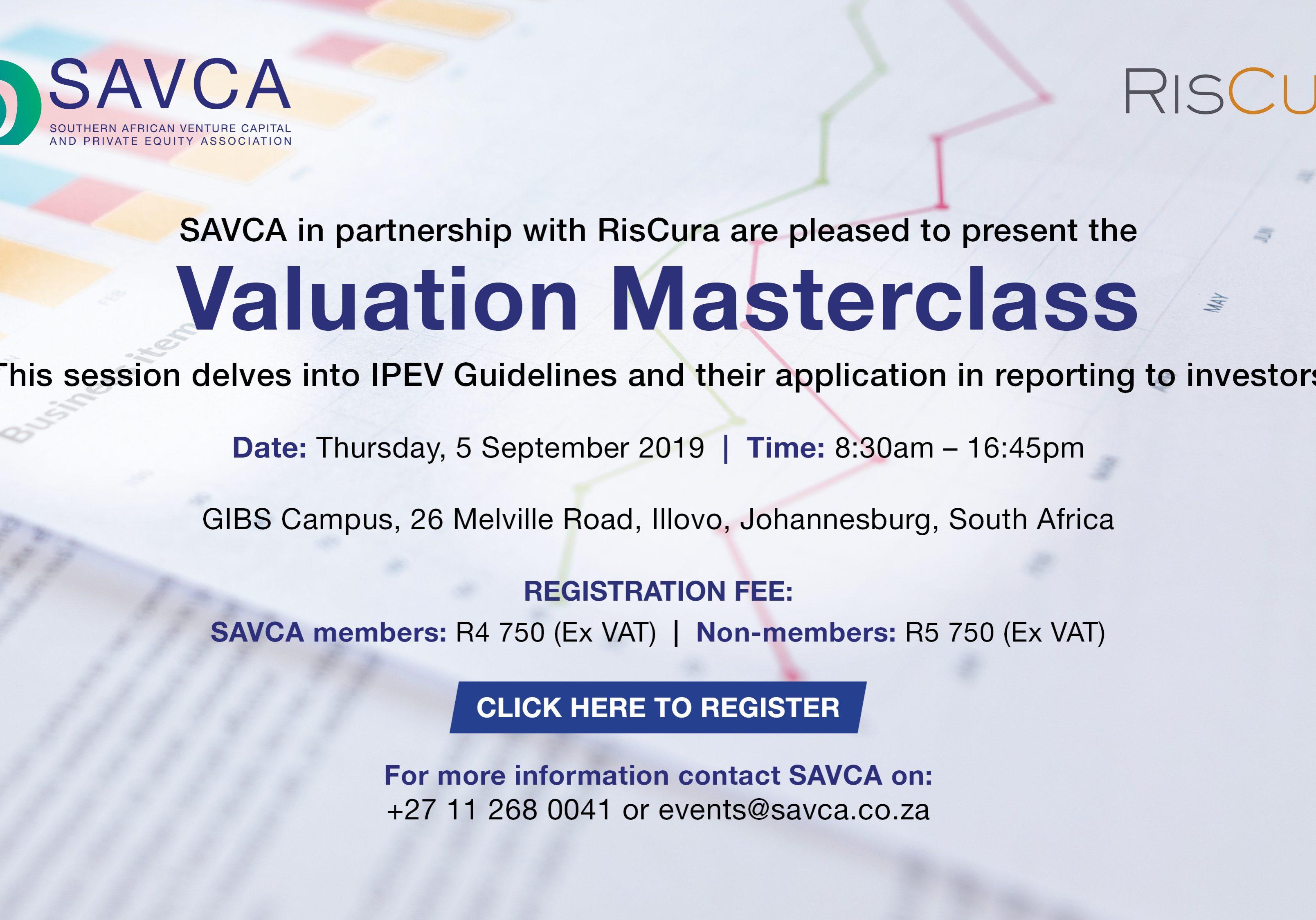 SAVCA_RisCura Valuation Masterclass invite 31july2019